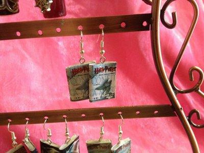 """Orecchini """"Mini libri"""" di Harry potter"""