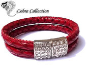 Bracciale in similpelle rosso - Coral