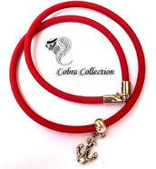 Bracciale/Collana in PVC Rosso - Lutryx Red