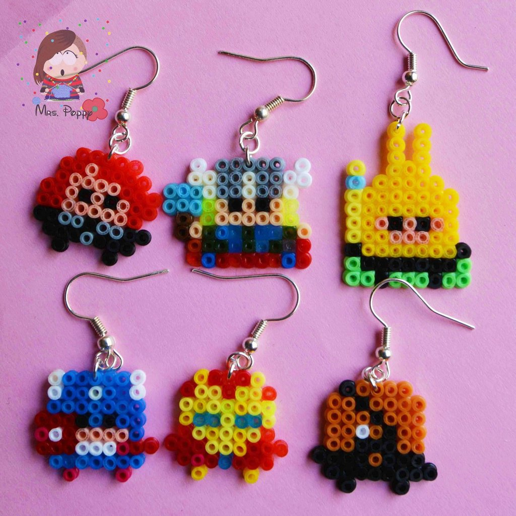 """Orecchini mini Hama Beads """"The Avengers"""""""