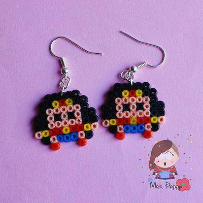 "Orecchini mini Hama Beads ""Super Eroi"""
