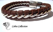 Bracciale in pelle marrone - Cobra Brown