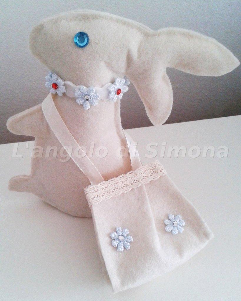 Pupazzo coniglio feltro