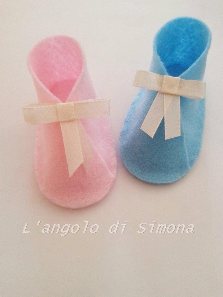 "Bomboniera ""scarpetta"" in feltro"