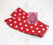 Rosie banana fascia capelli rossa pois bianchi- rockabilly pin up rock'n'roll retro style bow 50s