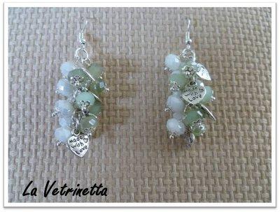 "Orecchini La Vetrinetta ""Latte&Menta"""