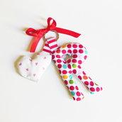 Ciondolo per portachiavi 'Lettere di stoffa': idea regalo per Mamma/Babbo o gadget per la festa di compleanno dei vostri bambini!