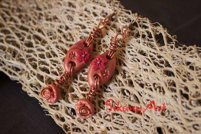 Orecchini in wire e pasta polimerica