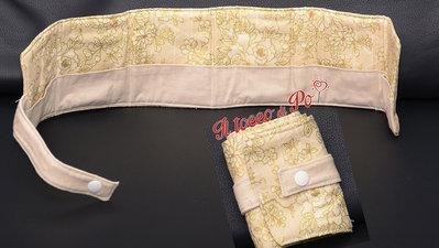 Porta bustine da the tisane, 6 bustine, fantasia fiori beige