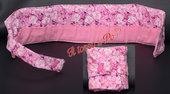 Porta bustine da the tisane, 6 bustine, fantasia fiori orchidee rosa