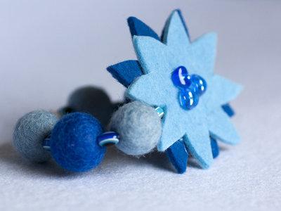 Braccialetto feltro blu e azzurro