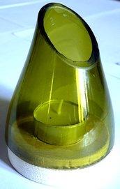 1 Litro di Luce - portacandela in vetro di bottiglia riciclato