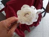 Cerchietto con fiore e strass
