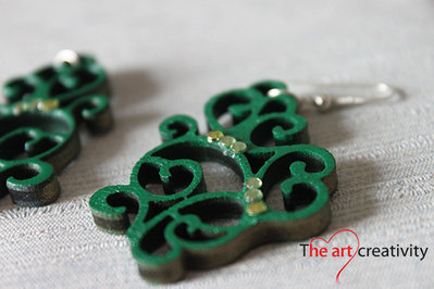 "Orecchini ""Morbido verde smeraldo_medium"""