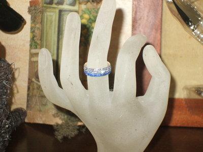anello in argento e swarovski