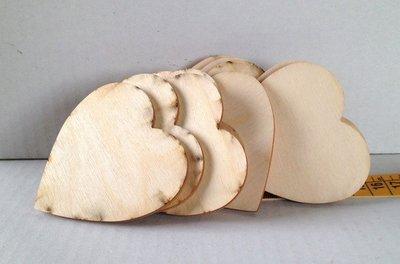 Cuore il legno grezzo 7,5 cm