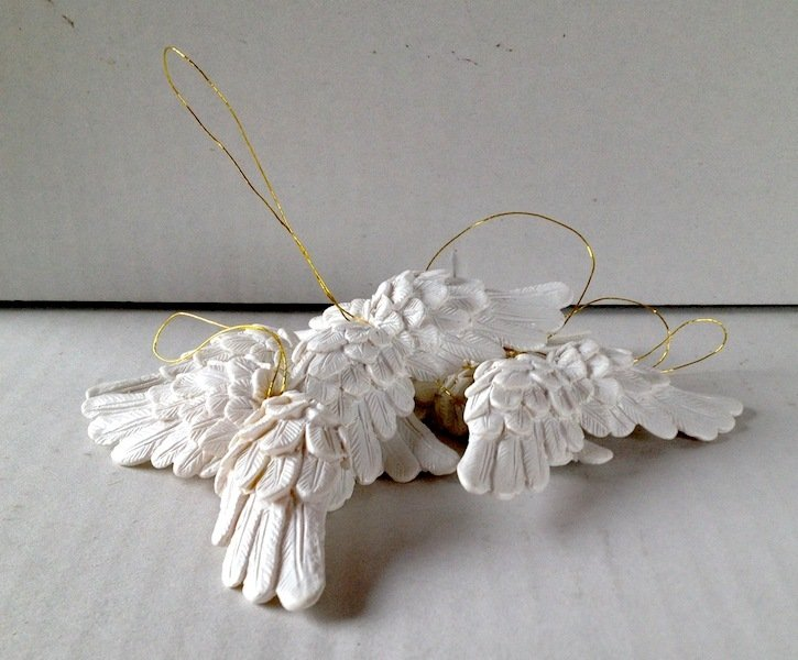 Ali in resina bianche 7,5 cm