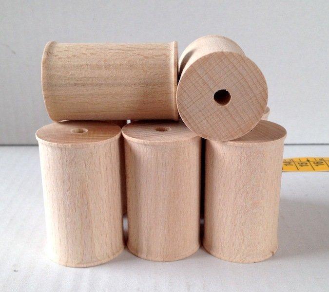 Rocchetti in legno grezzo cm 5,5