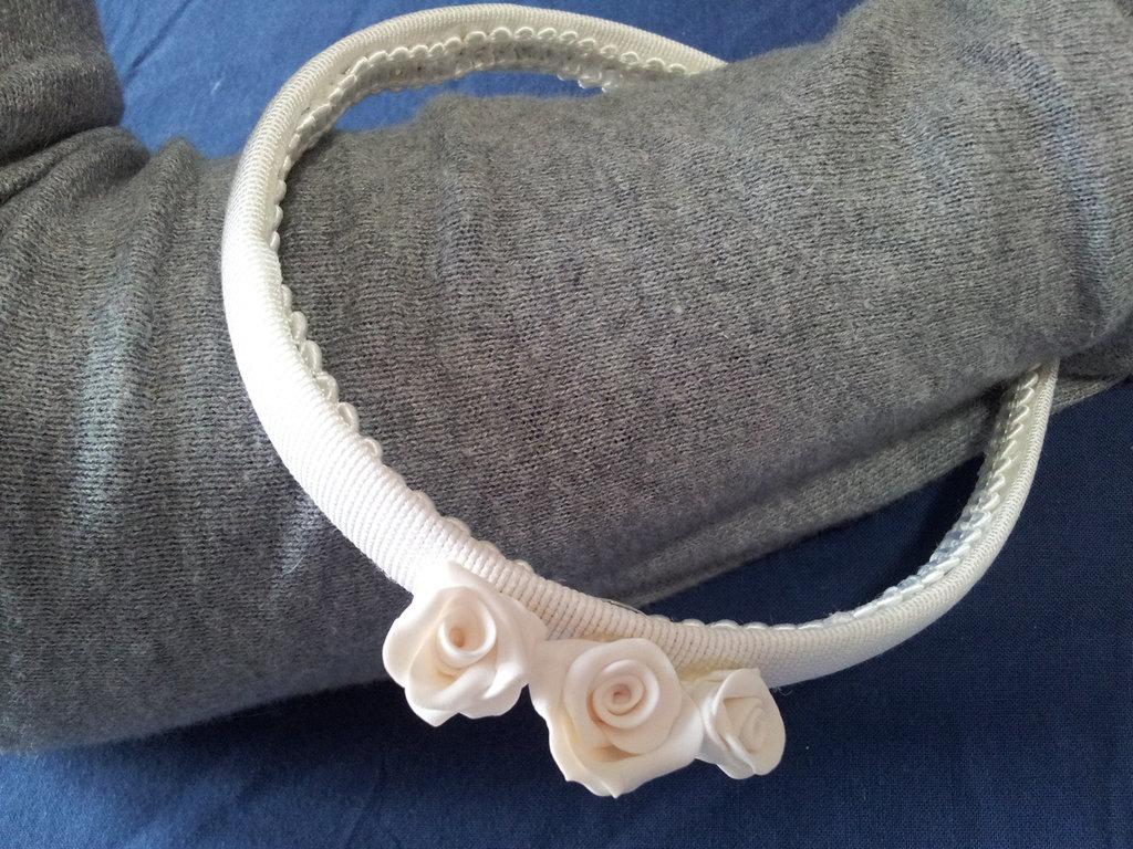 Cerchietto con rose