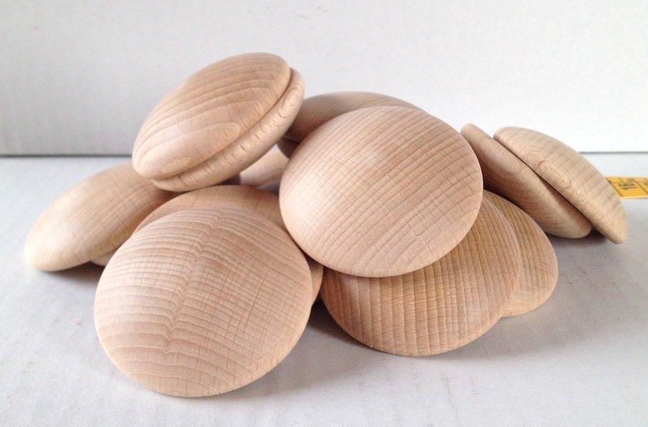Bottone in legno grande 5 cm
