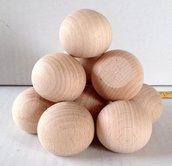 Sfera con base tagliata in legno 4 cm