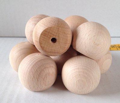 Sfera legno con base forata cm 3,5