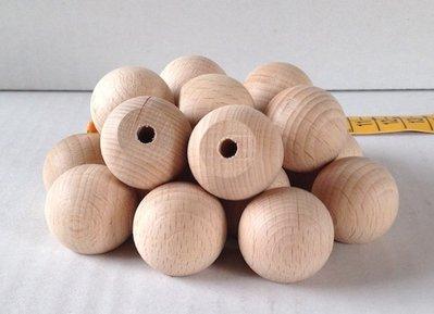 Sfera in legno con base piatta e forata cm 2,5