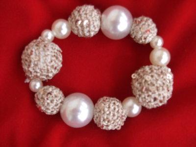 bracciale oro perle