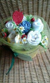 """idea regalo nascita  """"Bocciolino bimbo alle mele"""""""