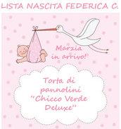 "Lista nascita Federica C. - Torta di pannolini ""Chicco Verde Deluxe"""