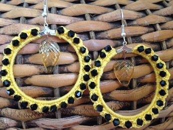 orecchini fatti a mano con swarovski e vetro di murano
