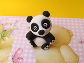 Charm Orsetto Panda in Fimo