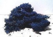 Muschio sintetico color blu 40 gr