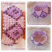 bracciale capriccio multicolore con cristalli e mezzi cristalli