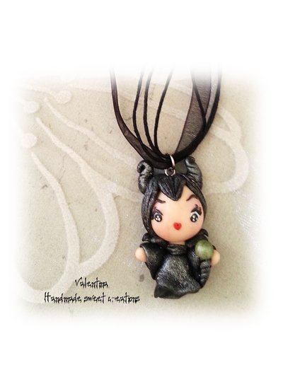 Collana Malefica Maleficent fimo
