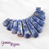 Set di pietre dure composizione per collane, blue spot stone, mm 85x50