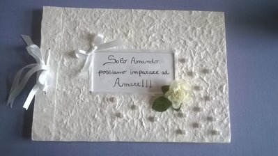 Guestbook white flower