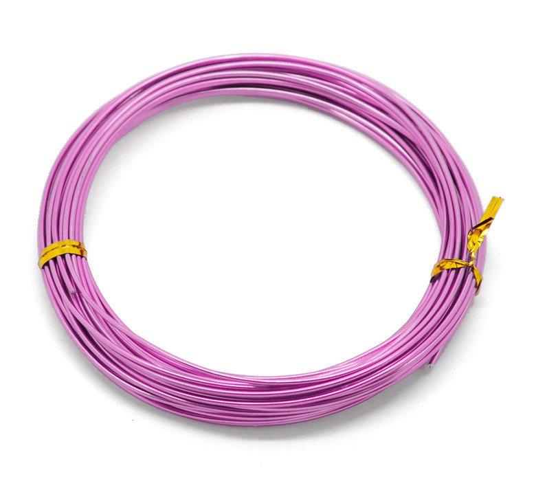 10 metri filo in alluminio  violetto 1,5 mm per wire scontato x 2 gg