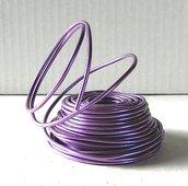 Filo alluminio colore lilla 10 metri