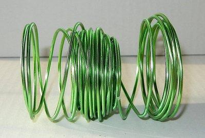 Filo alluminio colorato verde acido 10 metri