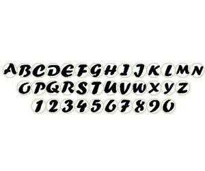 200 lettere Alfabeto fustellato