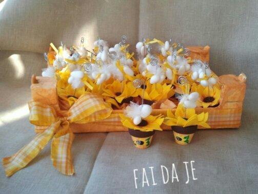 Bomboniere Matrimonio Girasoli : Bomboniera vasetto portafoto con girasole feste