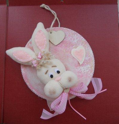 decorazione nascita coniglietta rosa bambini nascita