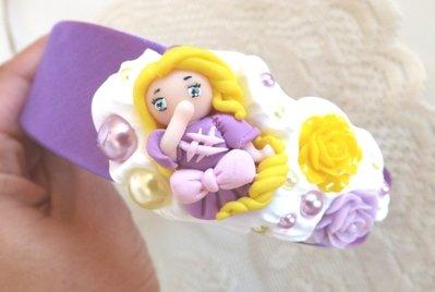 Cerchietto principessa Rapunzel,Raperonzolo con rose idea regalo Natale