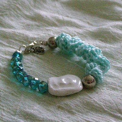 braccialetto verde acqua