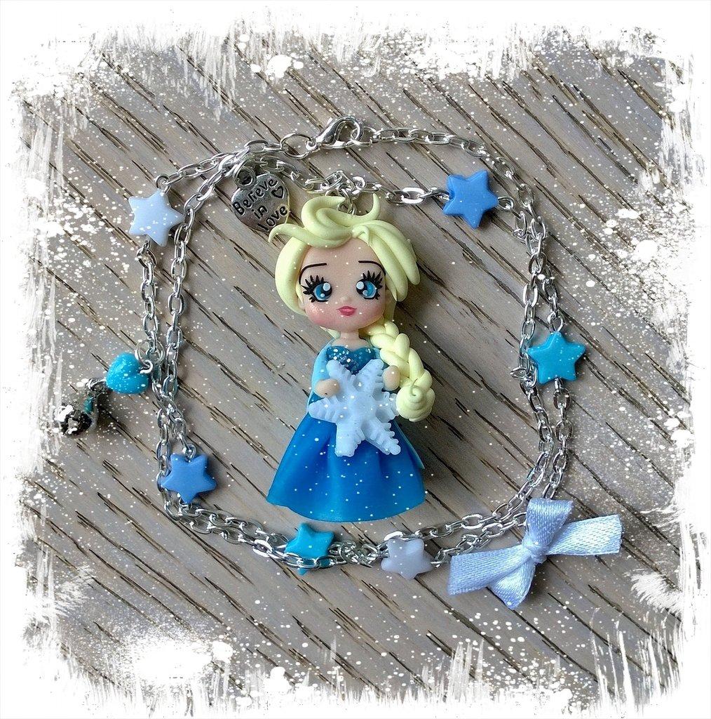 Collanina con Elsa di Frozen