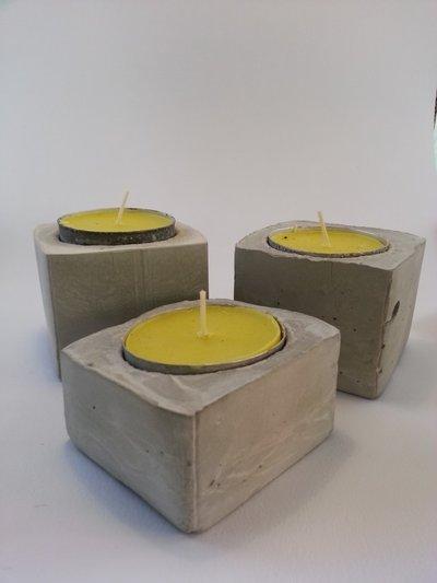 Porta candele concrete per la casa e per te esterno di bruc su misshobby - Candele per esterno ...