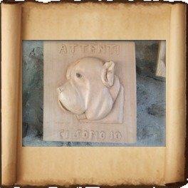 Ritratto bassorilievo cane-ERCOLE BALESTRIERI