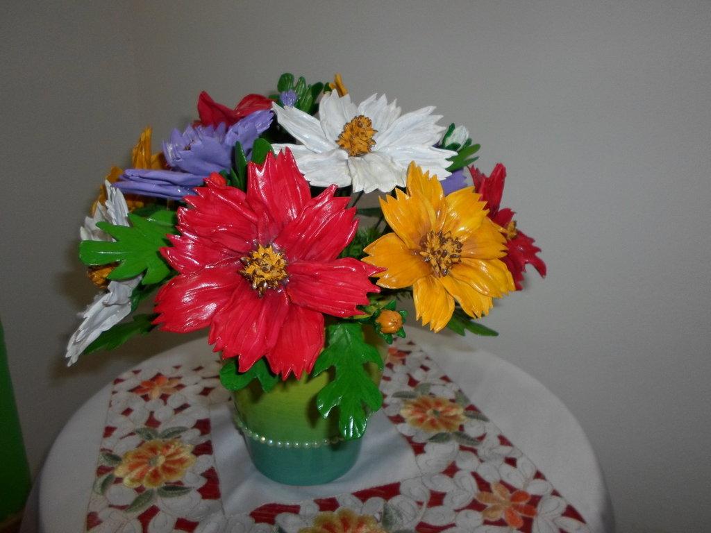 vaso fiori farina di mais,per la casa soprammobile,idea regalo,economico special price