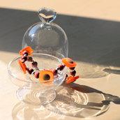 B51.14 - Bracciale con bottoni e perle in legno